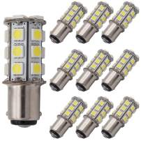 GRV Ba15d 1076 1142 1004 High Bright Car LED Bulb 24-5050 SMD DC 12V Cool White Pack of 10