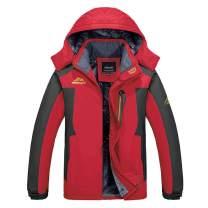 BIYLACLESEN Men's Winter Jackets Windproof Windbreaker Fleece Lined Warm Ski Snowboard Jacket Parka Jacket