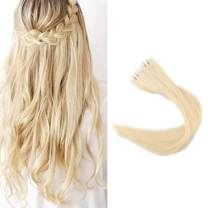 Full Shine Skin Weft Invisible Tape Hair Extensions 12 Inch Hot Fashion Short Glue In Hair Extensions Color #613 Blonde Human Hair Remi Tape Ins For White Women 30G 20Pcs