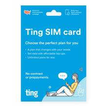 Ting Mobile Sim Card kit for Unlocked Phones - Bring Your own Compatible Phones - Unlimited Talk & Text Plan Starts at $10/Month