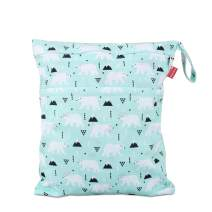 Damero Cloth Diaper Wet Dry Bag with Handle for Swimsuit, Pumping Parts, Wet Clothes and More, Ideal for Travel, Exercise, Daycare, Swimming, Reusable and Water-Resistant (Medium,Bear)