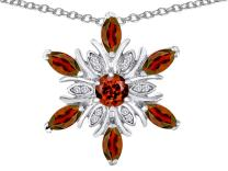 Star K Sterling Silver Snowflake Pendant Necklace