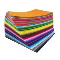 flic-flac 48PCS 8 x 12 inches (20 x 30cm) Assorted Color Felt Fabric Sheets Patchwork Sewing DIY Craft 1mm Thick … (20cm 30cm, 48pcs)