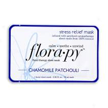 Florapy Beauty Stress Relief Sheet Aromatherapy Mask, Chamomile Patchouli, 1 Count