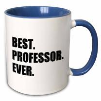 3dRose Best Professor Ever Gift For Inspiring College University Lecturers Two Tone Mug, 11 oz, Blue