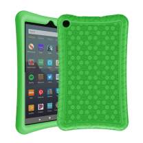 AVAWO Silicone Case for Amazon Fire 7 Tablet with Alexa (7th & 9th Generation, 2017 & 2019 Release - Anti Slip Shockproof Light Weight Protective Cover, Green