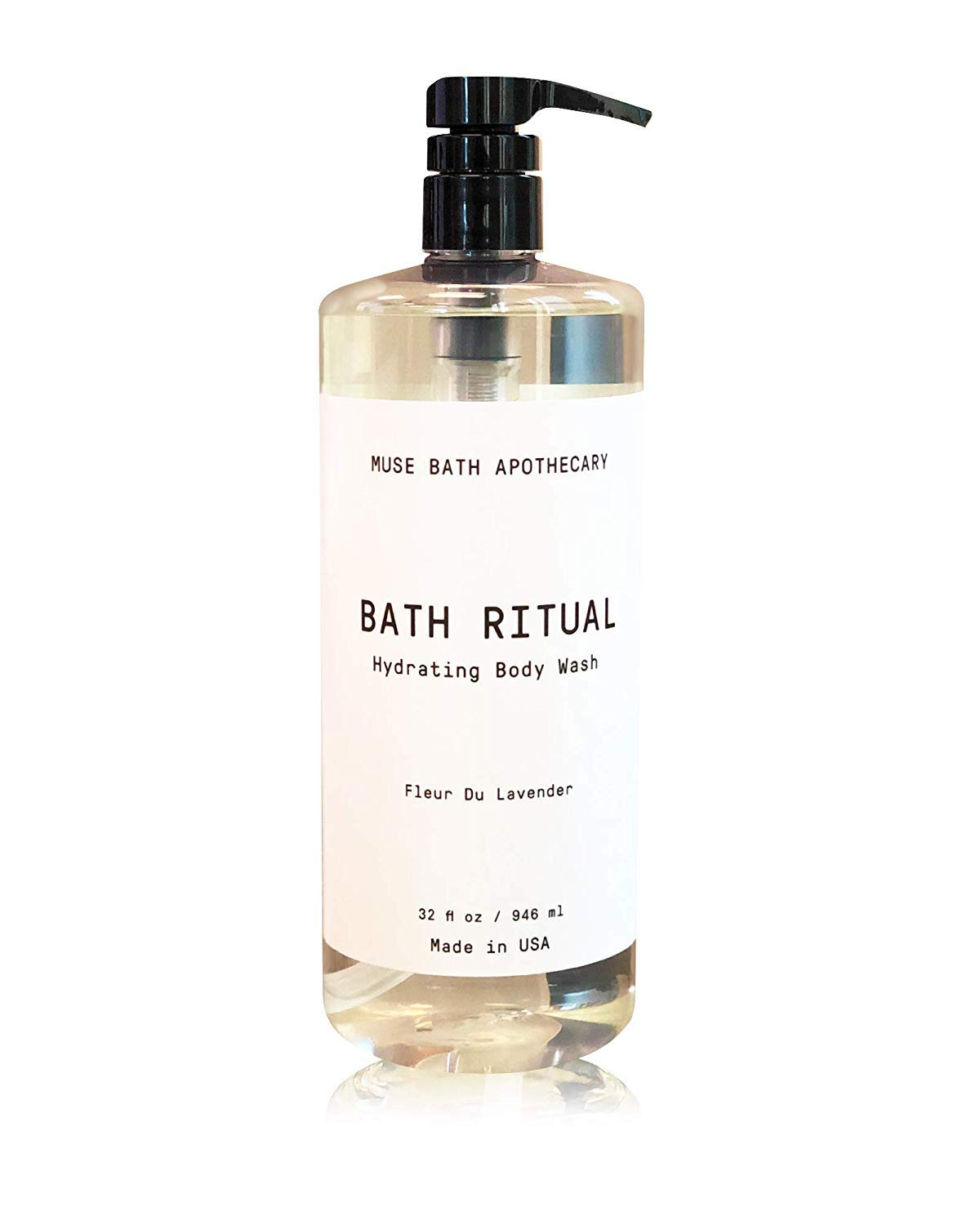 Muse Bath Apothecary Bath Ritual - Aromatic and Hydrating Body Wash, 32 oz, Infused with Natural Essential Oils - Fleur du Lavender