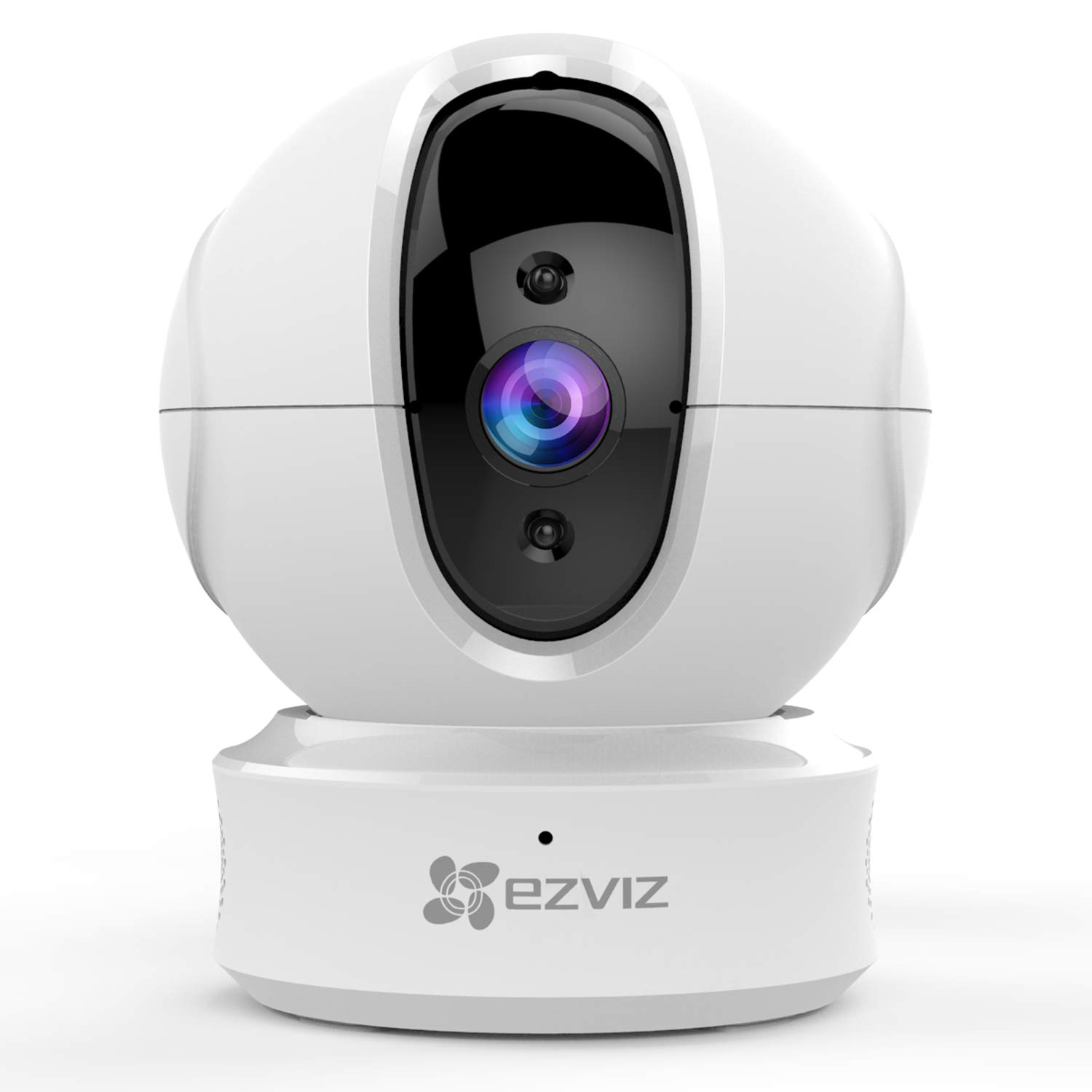 EZVIZ C6CN 1080p Indoor Pan/Tilt WiFi Security Camera 360° Full Room Coverage Auto Motion Tracking Full Duplex Two-Way Audio Clear 30ft Night Vision Supports MicroSD Card up to 256GB 2.4GHz WiFi