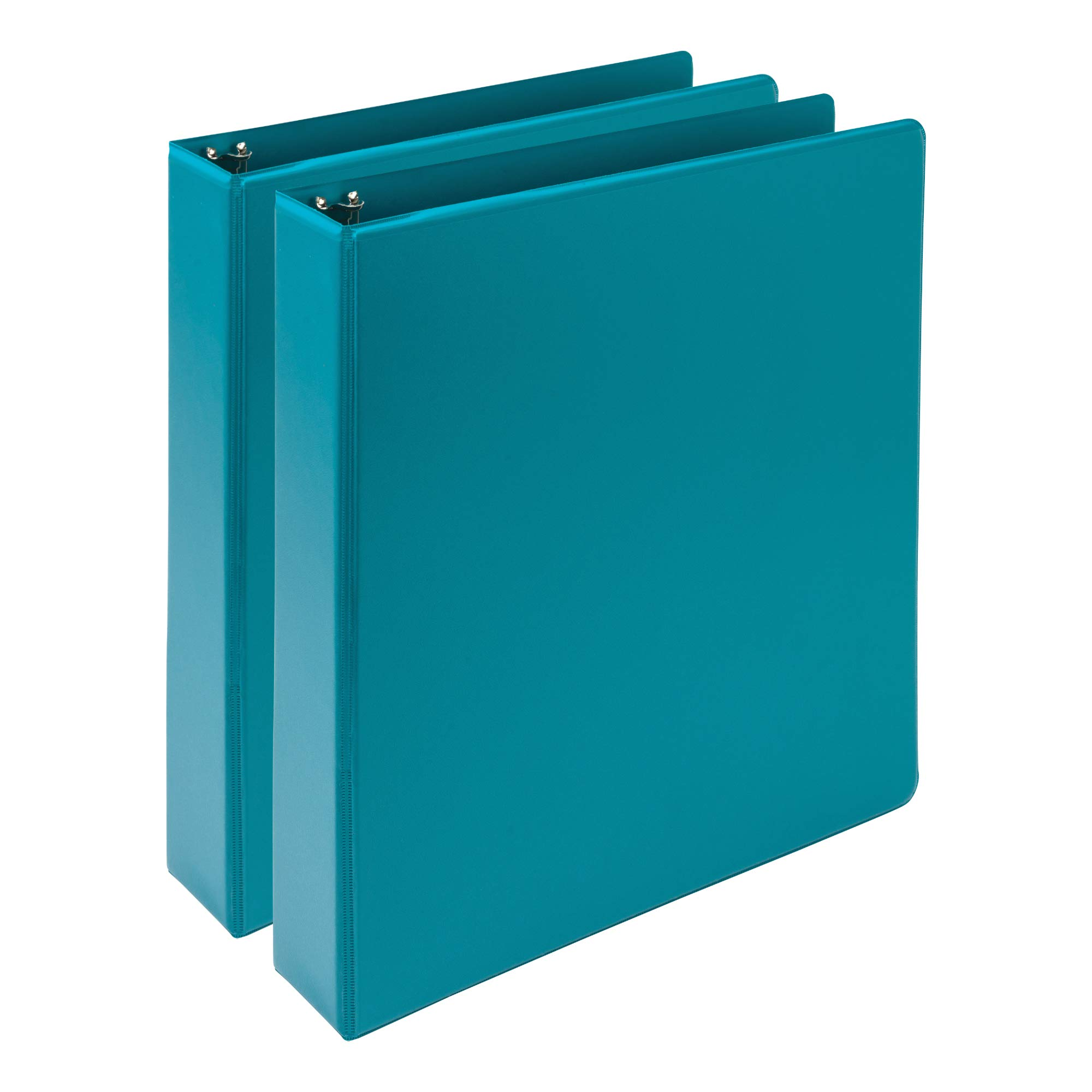 Samsill Earth's Choice, Durable Fashion Color 3 Ring View Binder, 1.5 Inch Round Ring, Up to 25% Plant Based Plastic, Eco-Friendly, USDA Certified Biobased, Turquoise, Value 2 Pack  (MP286577)