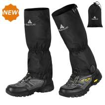 Hikenture Hiking Gaiters with Zipper - Waterproof Ankle Gaiters for Men and Women - Anti-Tear Leg Gaiters with Shoelace Hook - Multi-Function Snow Boot Gaiters for Snowshoeing,Hiking,Hunting,Running