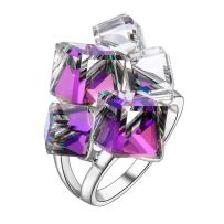 dnswez Multi -Color Change Crystal Cute Rings 3D Birthstone Colorful Rings, Cocktail Statment Rings Fashion Jewelry Ring for Women