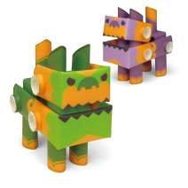 PIPEROID DIY Paper Craft Kit Shishitaro & Komajiro Imperial Guardian - Japanese Arts and Craft Kit for Kids and Adults - Birthday Gift and Party Favor for 3D Puzzle and Origami Paper Craft Enthusiasts