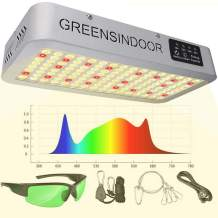 GreensIndoor 1500W LED Grow Light,Upgrade Sunlight 3500K Plant Lamp for Indoor Plants Full Spectrum White and Red 660nm with Timer and Daisy Chain Function