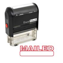 MAILED Self Inking Rubber Stamp - Red Ink