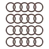 uxcell Fluorine Rubber O-Rings 22mm OD 17mm ID 2.5mm Width FKM Seal Gasket Brown 20pcs