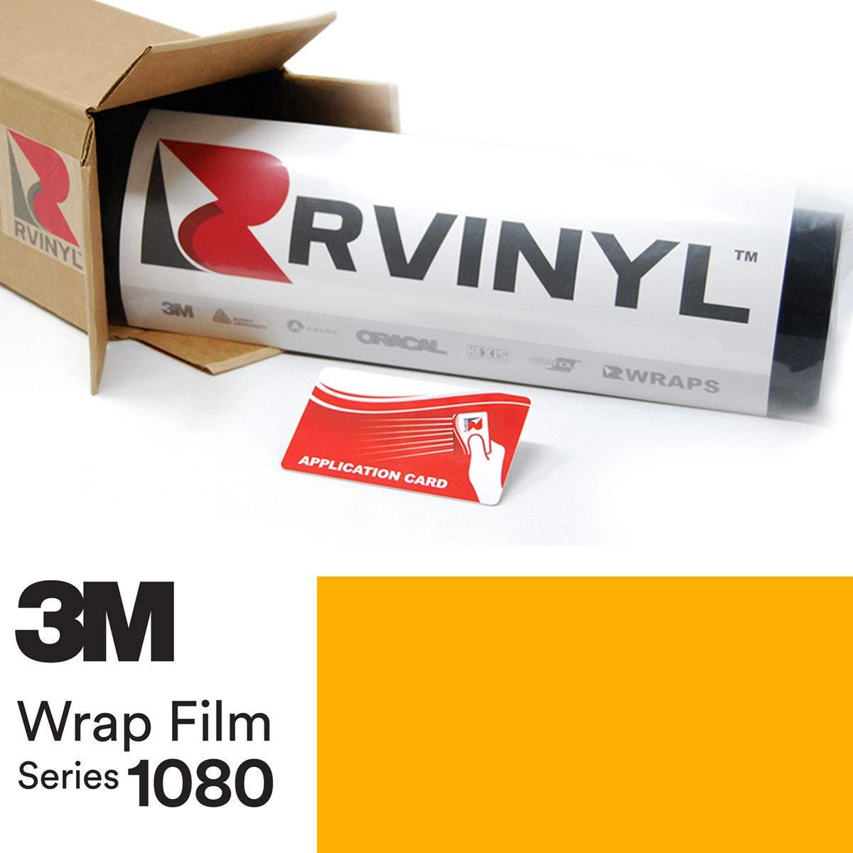 3M 1080 G25 Gloss Sunflower Yellow 5ft x 10ft W/Application Card Vinyl Vehicle Car Wrap Film Sheet Roll