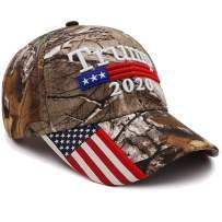 Make America Great Again Hat Donald Trump MAGA Cap, Adjustable Keep America Great 3D Embroidery Flag Camo Trump 2020 Hat