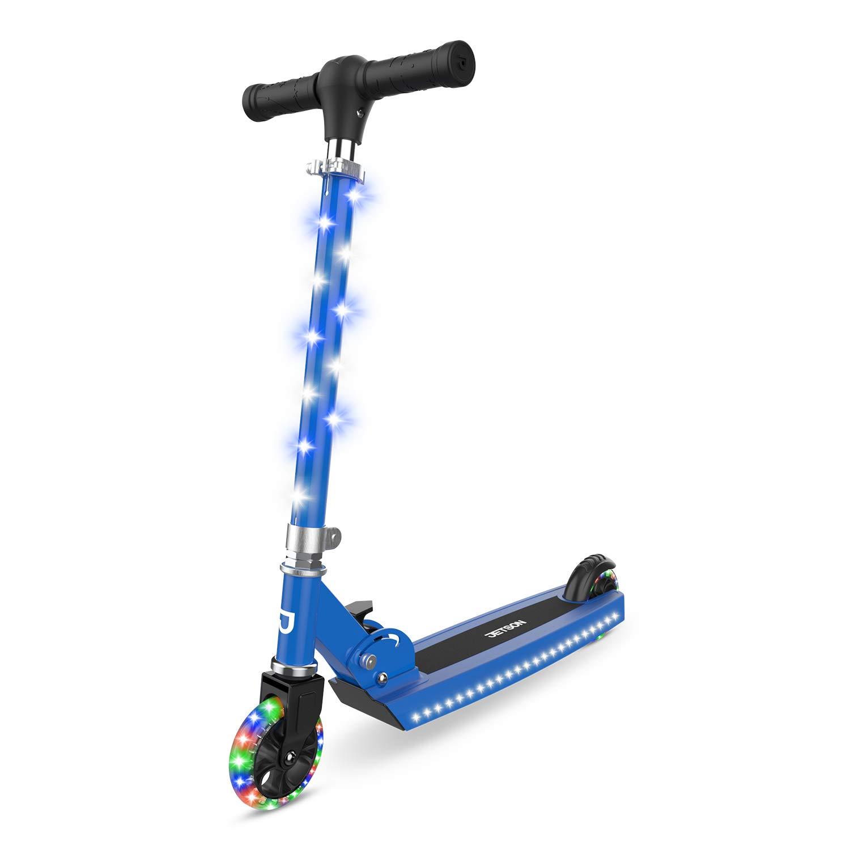 Jetson Jupiter Kick Scooter for kids, LED Light-up Scooter, Adjustable Handlebar, Rear Brake, Lightweight Design
