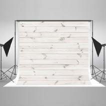 Kate10ft(W) x10ft(H) Photography Backdrop Retro Grunge White Wood Texture Background Abstract Portrait Wooden Photo Studio Props for Photographer Photo Backdrop White