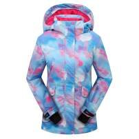PHIBEE Women's Outdoor Waterproof Snowboard Breathable Snow Ski Jacket