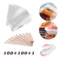 Rolin Roly 100 Pcs Popsicle Bags Ice Cream Bags Disposable DIY Ice Pop Pouch Clear Come With Wooden Popsicle Sticks and Mini Sealer