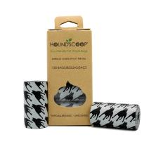 HOUNDSCOOP 120-Count Pet Waste Bags - 8 Refill 15 Bag Rolls - Unscented - Extra Thick and Strong - Leakproof and Tearproof