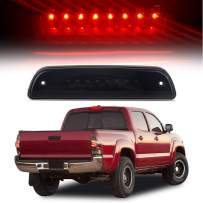 cciyu LED 3rd Brake Lights Cargo Lamp Assembly Automotive Fit for 1995-2016 Toyota Tacoma Smoke Lens Rear LED Stop Light