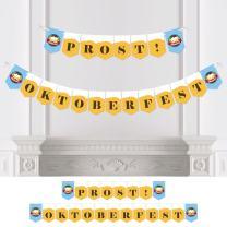 Big Dot of Happiness Oktoberfest - German Beer Festival Bunting Banner - Party Decorations - Prost Oktoberfest