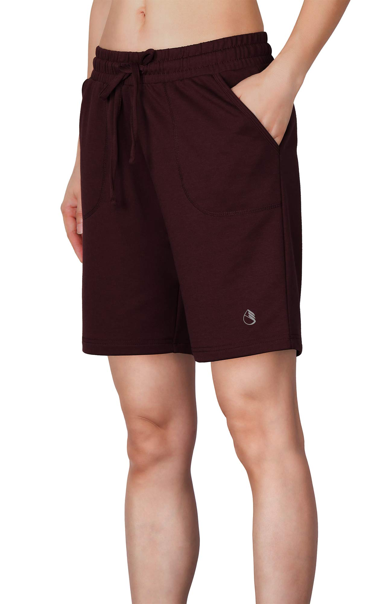 icyzone AthleticRunning Yoga Shorts for Women - Women's Workout Active Lounge Bermuda Shorts with Pockets