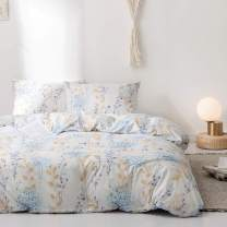 Mucalis King Patterned Duvet Cover Set Bohemian Floral Branches Farmhouse Bedding Set Lightweight Microfiber Flower Bedding Duvet Cover Set Zipper Closure Ultra Soft Don't Fade