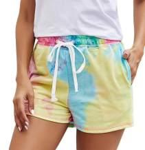 Naggoo Womens Drawstring Sweat Shorts Athletic Running Workout Lounge Shorts with Pockets