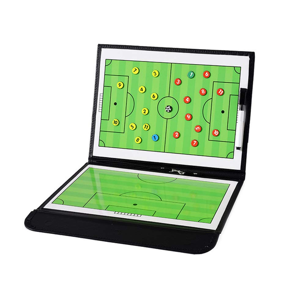 Football Coaching Board Coaches Clipboard Tactical Magnetic Board Kit with Dry Erase, Marker Pen and Zipper Bag (Football Board)