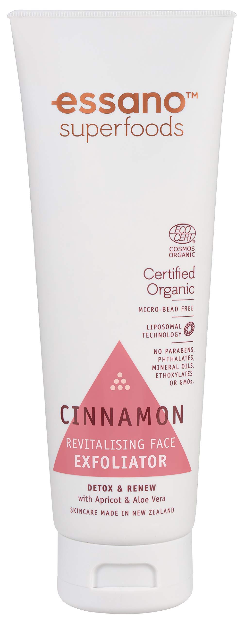 Essano Superfoods Certified Organic Cinnamon Revitalising Face Exfoliator, 100ml
