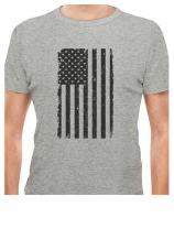 Big Black American Flag - Vintage 4th of July USA Flag T-Shirt