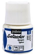 PEBEO 295-010 Setacolor Opaque Fabric Paint 45-Milliliter Bottle, Titanium White