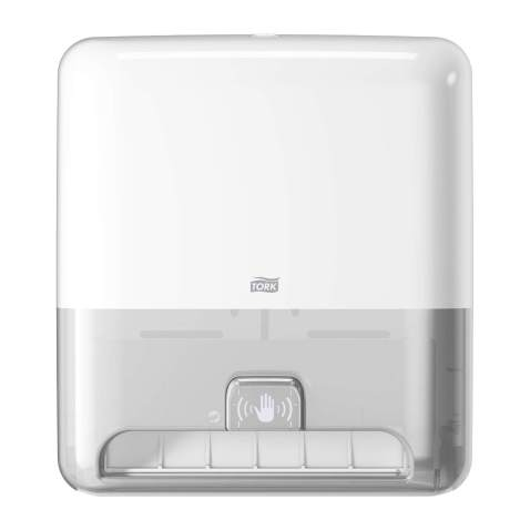 Tork Matic Hand Towel Roll Dispenser with Intuition Sensor 5511202, Elevation Design - Paper Hand Towel Dispenser H1, Non-Contact one-at-a-time Dispensing, White