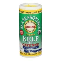 Kelp Granules with Cayenne Sea-Seasoning Shaker | 1.5 oz tube | Organic Seaweed Seasoning | Maine Coast Sea Vegetables