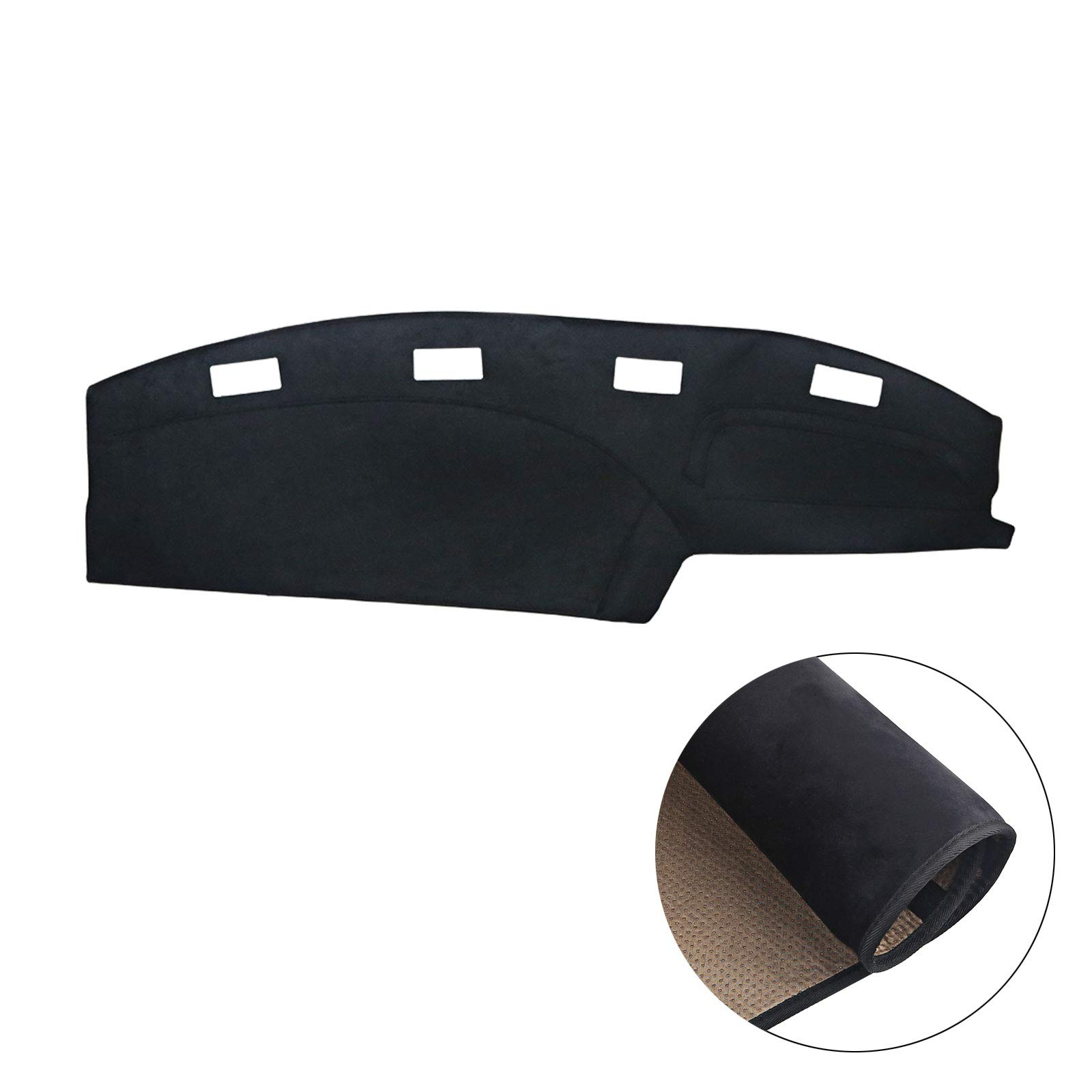 JDMON Compatible with Dash Cover Mat Dashboard Carpet Dodge Ram 1500 2500 3500 1994 1995 1996 1997