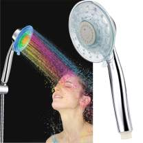 LED Shower Head Color Changing 2 Water Mode 7 Color Glow Light Automatically Changing Handheld Showerhead