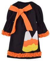 Unique Baby Girls Candy Corn Halloween Dress with Bow