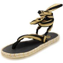 Nalho Women's Yoga Mat Gladiator Ankle Strap Espadrilles Sandals, Karabi