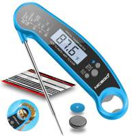 NiceGo Digital Instant Read Meat Thermometer with Probe Fast Waterproof Thermometer with Back light and Calibration. Digital Food Thermometer for Cooking, Kitchen, Outdoor Cooking, BBQ Grill.