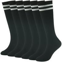 Teens Sports Socks, saillsen Boys and Girls Tube Soccer Socks Team Knee High Socks 2/4/6/10 Pack