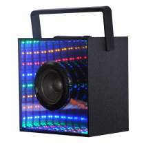 Bluetooth Computer Speaker,Wireless Speakers with Mirror and AUX Audio TF Card Slot Colorful LED Lights Dancing,Handheld Portable Stereo Bass Rechargeable Outdoor Sports Speaker