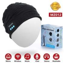Zerofire Bluetooth Beanie Hat, Bluetooth Headphones Music Cap Wireless Headset Earphones Bluetooth 4.2 Built-in Microphone Stereo Speaker 4-6 Hour Playtime Easy-Pair for Winter & Christmas
