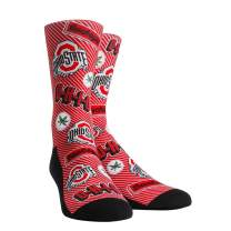 Rock 'Em Socks NCAA Super Premium College Fan (S/M, Ohio State Buckeyes - Logo Statement)