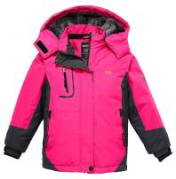 Wantdo Girl's Hooded Ski Fleece Jacket Waterproof Winter Coat Raincoats Outwear