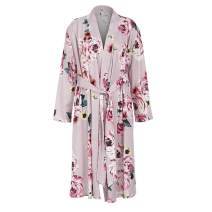 Women Floral Print Maternity Labor Delivery Robe Breastfeeding Nursing Nightgowns Gown Maternity Robe in Hospital
