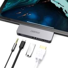 IPad Pro USB C Hub, CHOETECH 4 in 1 IPad Pro Hub. 4K60HZ HDMI Adapter and USB-C PD 60W, USB 2.0, 3.5mm Audio Output, Compatible with IPad Pro 2020 2019 2018, MacBook Pro 2020/2019, Type C Devices, etc