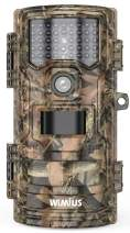 WiMiUS H7 Trail Camera【2021 Upgraded】 16MP 1080P HD Hunting Scouting Trail Cam with Infrared Night Vision Waterproof Motion Activated, 120° Detecting Range for Wildlife Monitoring